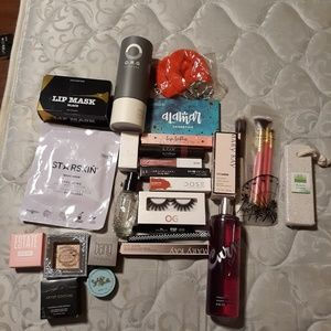 Many different brand new makeup and beauty product